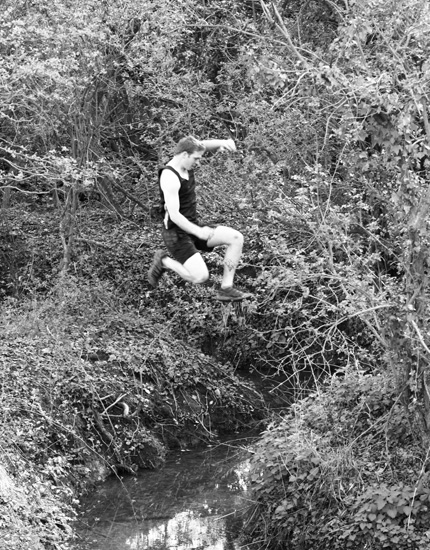 Jumping a ditch