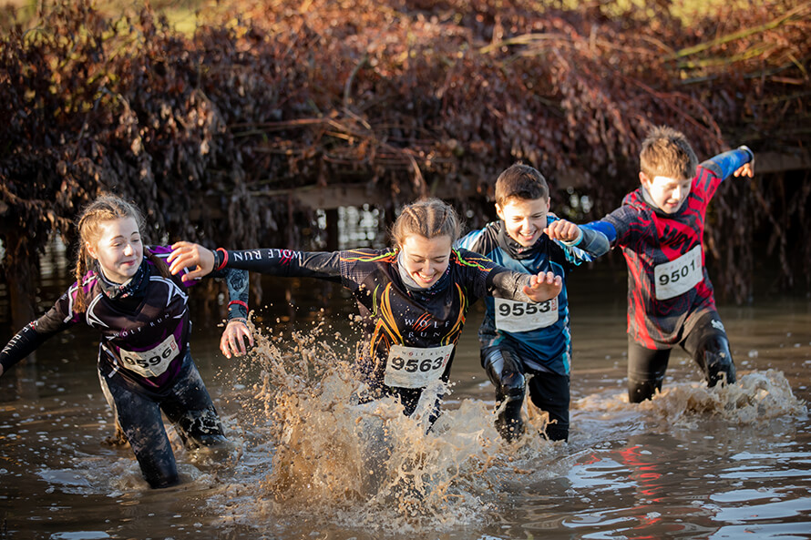 Wild running and making a big splash
