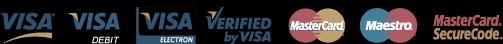 Visa, Mastercard, Verified by Visa, Mastercard Securecode