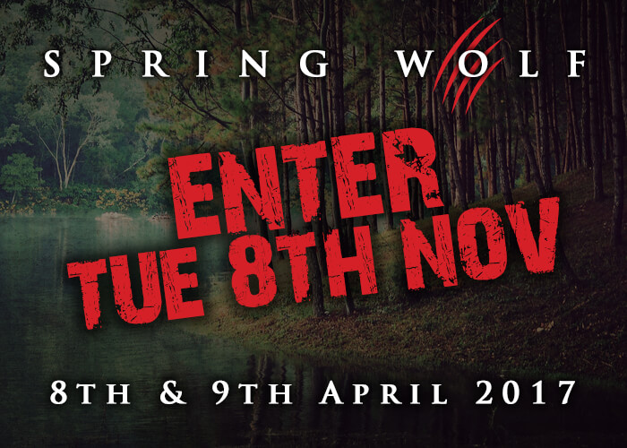 Spring Wolf - Entry Opens Tueday 8th November
